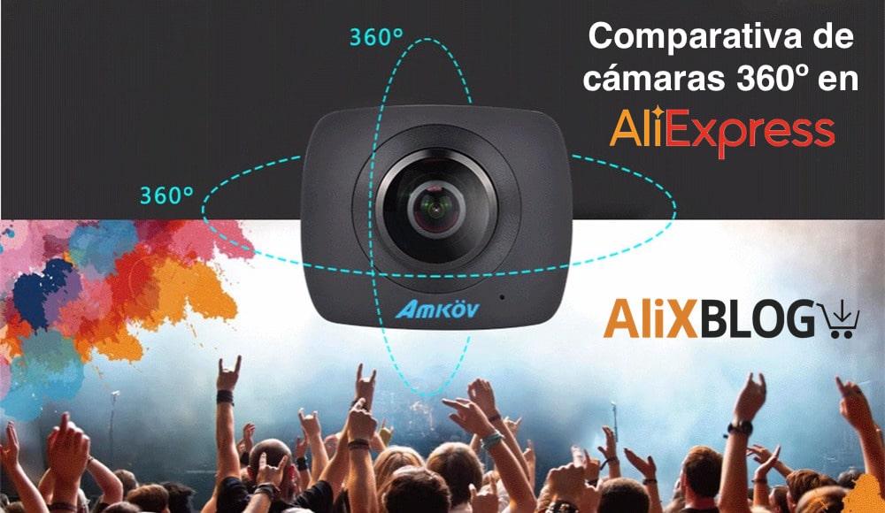comparativa y opiniones sobre las mejores camaras de video 360 grados chinas que se encuentran baratas en AliExpress