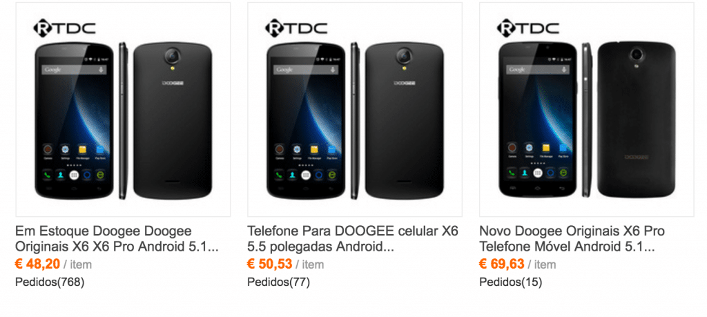 doogee prices PORT