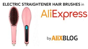 Electric straightener hair brushes on AliExpress: opinions and price