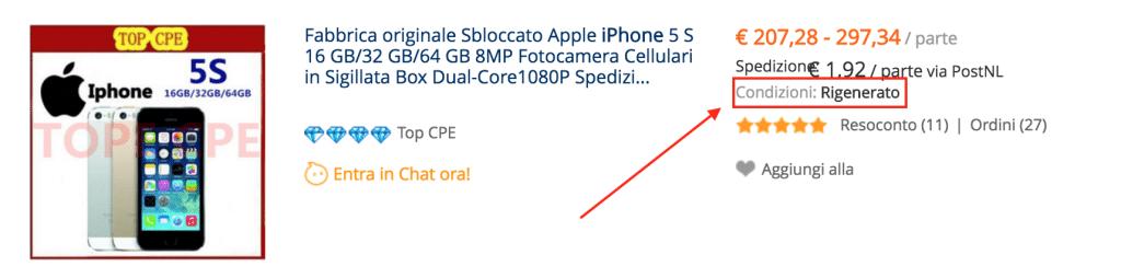 reformado iphone ITA