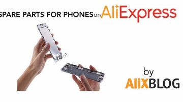 Spare parts for cellphones on AliExpress: screens and other parts for iPhones, Samsung…