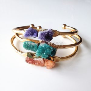 brazaletes piedras naturales