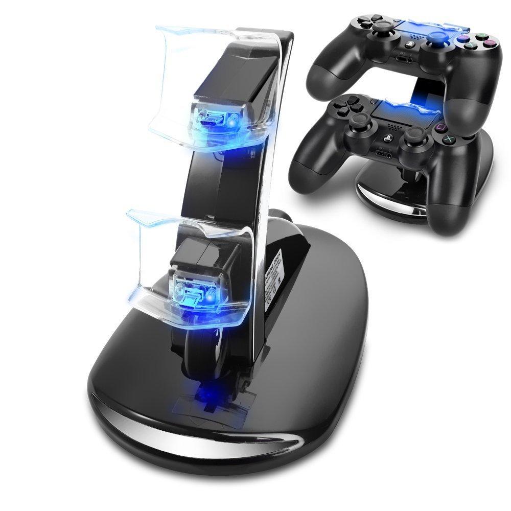cargador mandos PS4 buena calidad