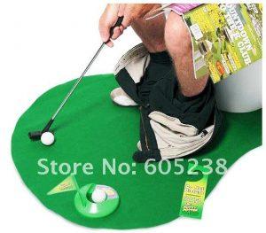 juego golf popo baño