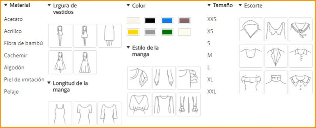 como-filtrar-ropa-en-aliexpress