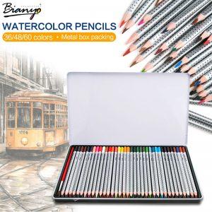 lapices-de-colores-acuarelables-bianyo-bellas-artes-aliexpress