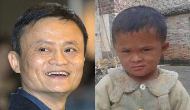 Niño chino parecido a Jack Ma