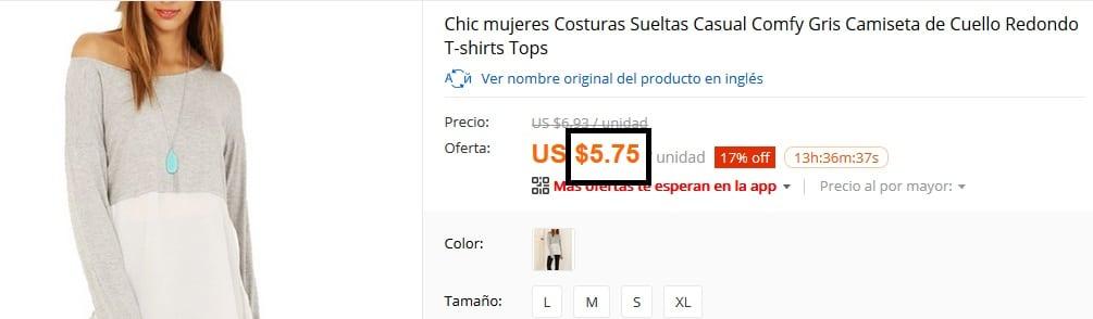 Blusa barata imagen