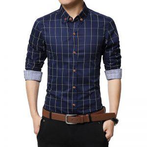 camisa-de-cuadros-algodon-azul-aliexpress