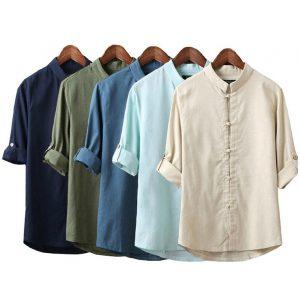 camisa-de-lino-tradicional-aliexpress