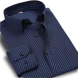 camisas-estampadas-rayas-para-hombre-aliexpress