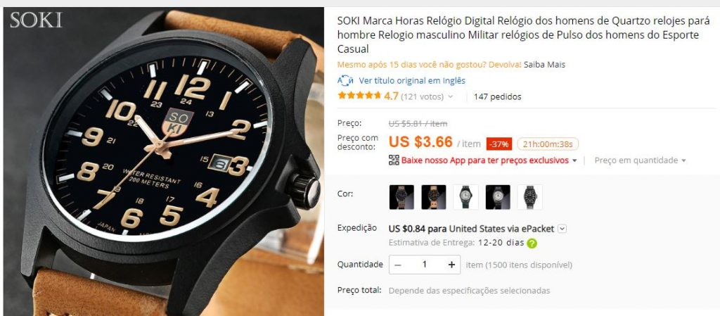 8ed2bc74509 Marcas chinesas de relógios no AliExpress - 2019