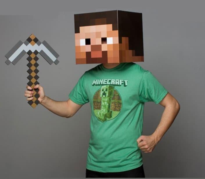 Disfraz y máscara de Minecraft