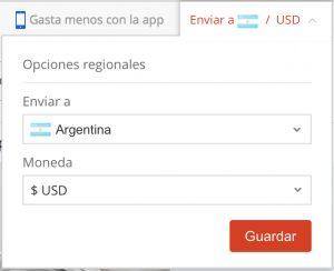 632e9f16 ... que envíen a Argentina. Sólo tienes que mirar la parte superior de la  página de AliExpress y configurarlo con los siguientes parámetros que te  enseñamos ...