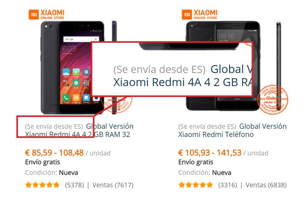 52cdac8a679 Ambos indican que el móvil se envía desde España, lo cual significa que lo  recibes en 24-72 horas, en lugar de esperar las tres o cuatro semanas que  tardan ...