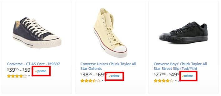 Converse на Amazon