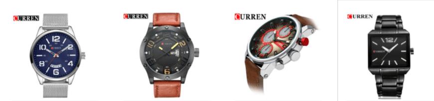 Часы Curren на AliExpress