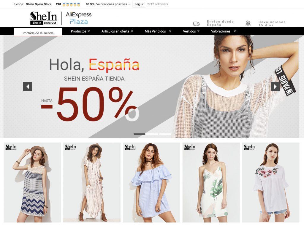 bfde2de1e Shein en AliExpress Plaza: comprar tu ropa favorita desde España