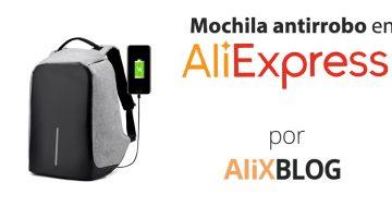 Mochila antirrobo: mantén tus pertenencias a salvo por poco dinero en AliExpress