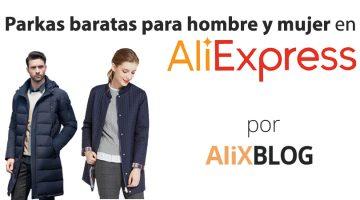 Cómo encontrar parkas para hombre y mujer muy baratas en AliExpress