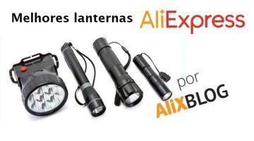 Especial lanternas baratas no AliExpress: tipos disponíveis e vendedores recomendados
