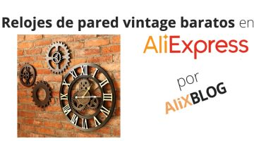 Relojes de pared vintage baratos en AliExpress