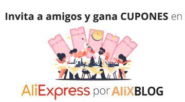Invita a tus amigos y gana cupones en AliExpress