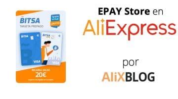 EPAY Store y AliExpress Ocio: compra tarjetas prepago y regalo sin salir de casa en AliExpress