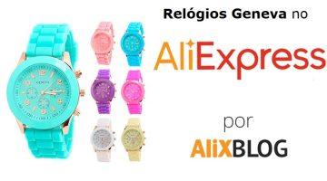 Comprando relógios Geneva para mulheres e homens no AliExpress