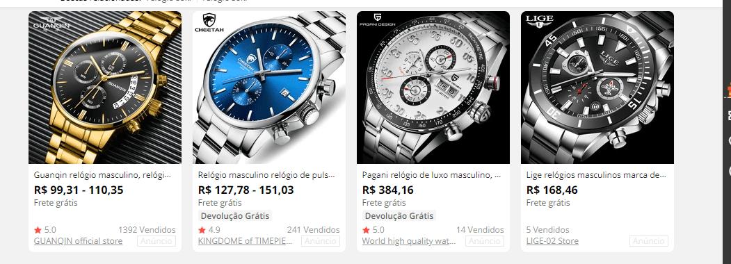 relógios soki aliexpress