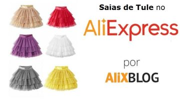 Saias de tule baratas para casamentos e eventos no AliExpress: como e onde comprar