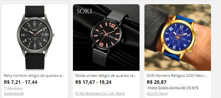 soki relógio masculino