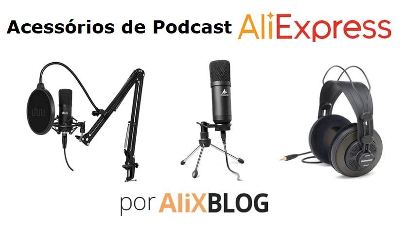 acessórios de podcast aliexpress