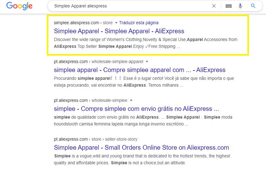 como procurar loja no google