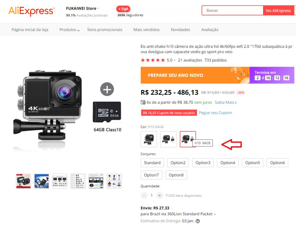 preços aliexpress